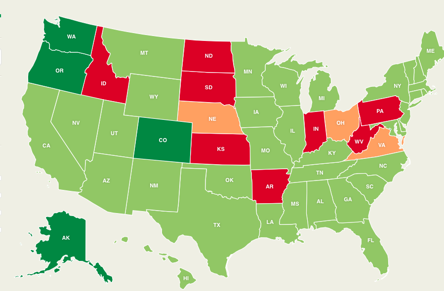 Heres a Map of Every State and Their Marijuana Laws News