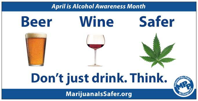 pints vs pot new billboard says marijuana safer than alcohol thc